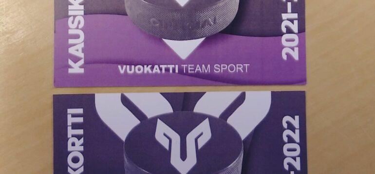 Kaksi Vuokatti Team Sport -kausikorttia
